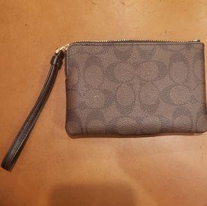 Coach Bags - Coach wristlet wallet handbag bag purse brown